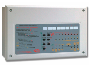 Image of a Fire ALarm Control Panel - Home Guard 4 Alarms